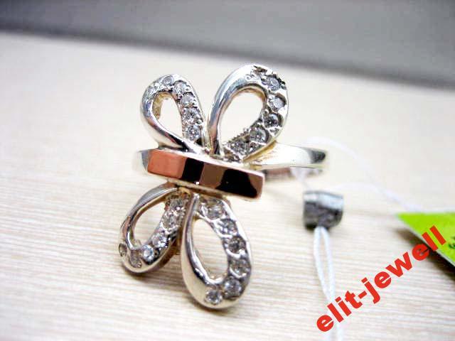Серебряное кольцо Стрекоза с камнями