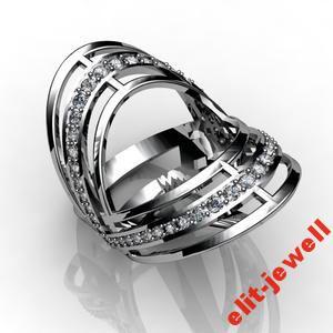 Серебряное кольцо Барселона 18 размер