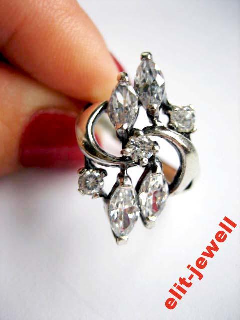 Серебряное кольцо Тодес 17 размер