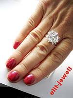 Серебряное кольцо 17,5 размер, фото 1