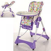 Детский стульчик для кормления Bambi ПУРПУРНЫЙ