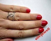 Родированное кольцо Шерами 18 размер, фото 1