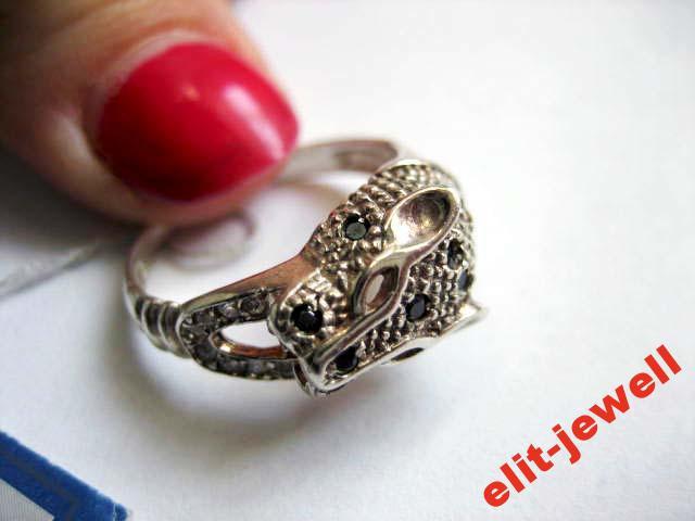 Серебряное кольцо Леопард 18,5 р.