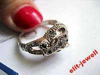Серебряное кольцо Леопард 18,5 р., фото 1