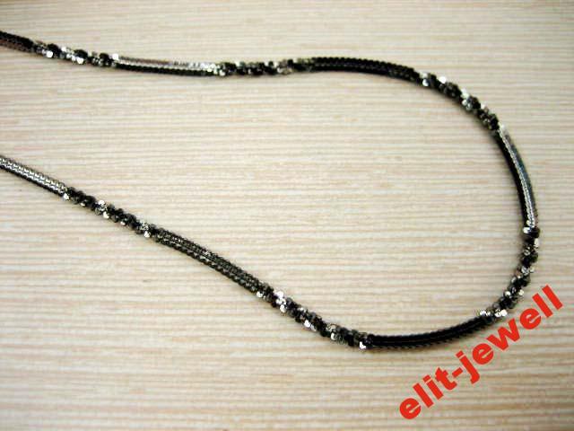 Серебряная цепь черненая 55 см