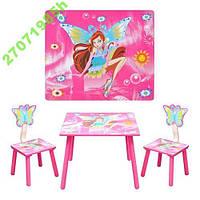Набор столик и два стульчикa Винкс