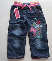 Детские утепленные джинсы на девочку. 5-8 лет. Оптом., фото 1