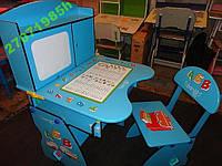 Детская стол-парта  с мольбертом