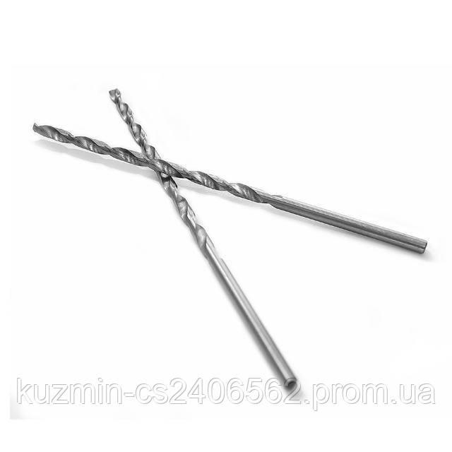 Сверло по металлу удлиненное DIN 340 3.5мм HSS Intertool SD-5235