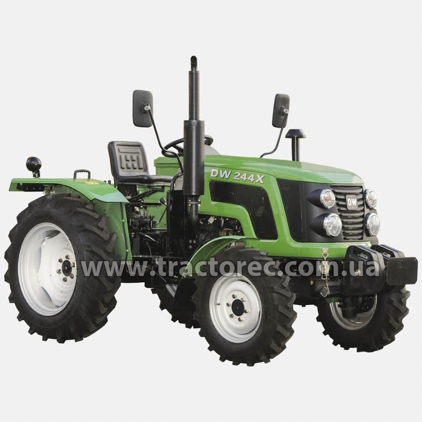 Трактор DW 244 X, 24 л.с., 3 цил, ГУР, увеличенные колеса, БЕСПЛАТНАЯ ДОСТАВКА!