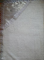 Крыжма махровая с уголком, белая , фото 1