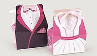 """Коробочка """"Бонбоньерка-принцесса"""" М0020-о14 жених и невеста"""