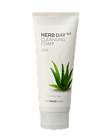 Очищающая пенка TheFaceShop HERBDAY 365 CLEANSING FOAM #2 ALOE
