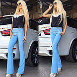 Женские стильные брюки с завышенной посадкой клеш (4 цвета) + большие размеры, фото 4