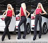 Женские стильные брюки с завышенной посадкой клеш (4 цвета) + большие размеры, фото 5