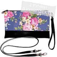 Женская сумка клатч с цветами