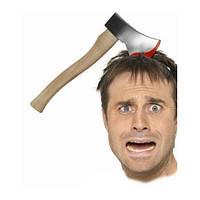 Топор в голову - изюминка вашего наряда на хэллоуин!