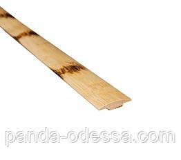 Бамбуковый молдинг стыковочный, черепаховый светлый