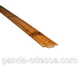 Бамбуковый молдинг стыковочный, черепаховый темный