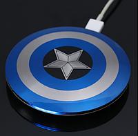 CУПЕРЦЕНА! Универсальный повербанк (Powerbank) Капитан Америка Cиний 6800 Marvel оригинальный дизайн