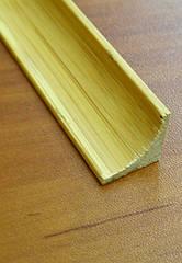 Бамбуковый молдинг угловой внутренний, темный
