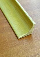 Бамбуковый молдинг угловой внутренний, светло-бежевый