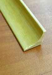 Бамбуковий молдинг кутовий внутрішній, світло-бежевий