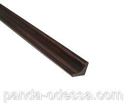 Бамбуковый молдинг угловой внутренний, венге