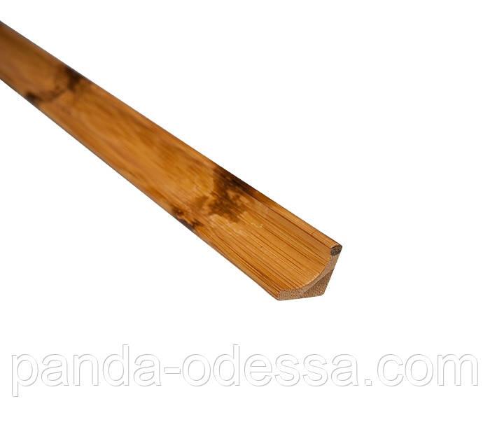 Бамбуковый молдинг угловой внутренний, черепаховый темный