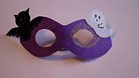 Маска очки  на Хэллоуин  из фетра фиолетовые