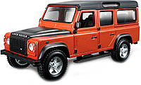 Авто-конструктор LAND ROVER DEFENDER 110 коричневый металлик, 1:32 Bburago (18-45127)