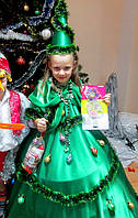 Костюм елки. Карнавальный детский костюм елочки. Детский Новогодний костюм елки