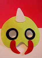 Маска на Хэллоуин из фетра покемон Катерпи