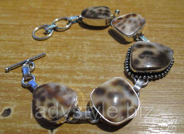 купить браслет украшения натуральный тигровый глаз ракушка аммонит оберег признание в любви подарок
