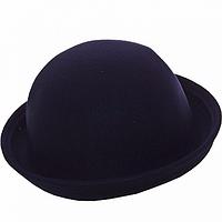 Шляпка котелок синяя
