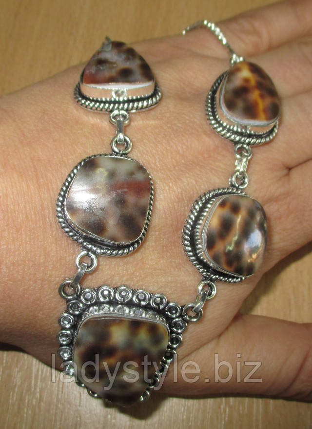 купить серебряное бусы колье подвеску  украшения аммонит глаз Шивы