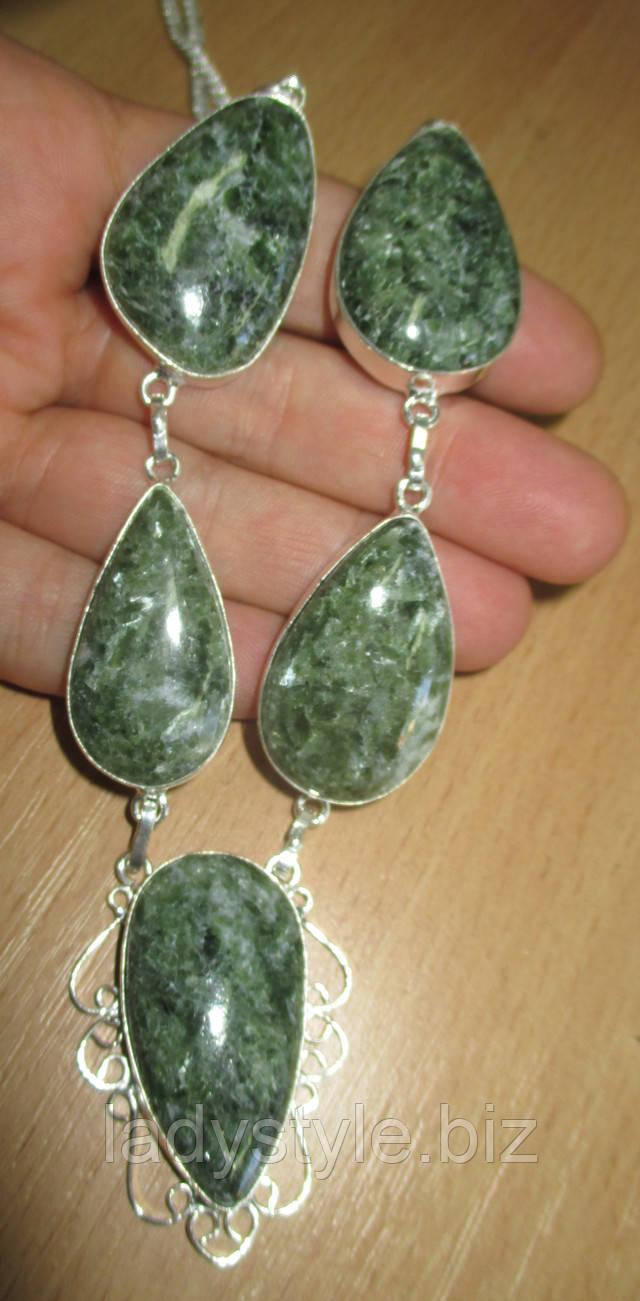 купить украшения с натуральным серафинитом  серебро  перстень с кулон подвеска  кольцо серьги