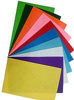 Фетр для рукоделия, 1мм,20х30, набор 10 цветов.