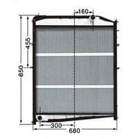 Радиатор системы охлаждения Шанкси F2000