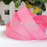 Лента репсовая розовая, 2,5 см