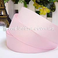 Лента репсовая бледно-розовая, 2,5 см