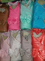 Конверт-одеяло Бант на меху для новорожденного, зима