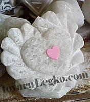 Лампа из соли - сердце фигурное