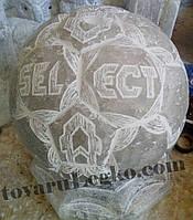 Лампа из соли - мяч с надписями