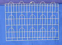 Торговая  полка для полиграфической продукции навесная корзиночная 3 ряда по 5 ячеек