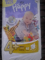 Подгузники Bella Happy 4+ Maxi (9-20кг) BIG PACK 62шт.