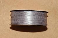 Лента атласная 3 мм светло-серая 16606, фото 1
