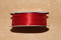 Лента атласная 3 мм красная 16607, фото 1