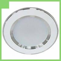 Светильник AL527 7W круг встраиваемый, белый 560Lm 4000K 108*28mm FERON