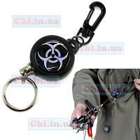 Брелок держатель с выдвигающимся тросом для ключей с карабином